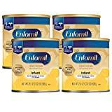 Enfamil Gentle Baby Formula Milk Powder, 21.1 ounce (Pack of 4) - Omega 3 DHA, Iron, Immune & Brain Support