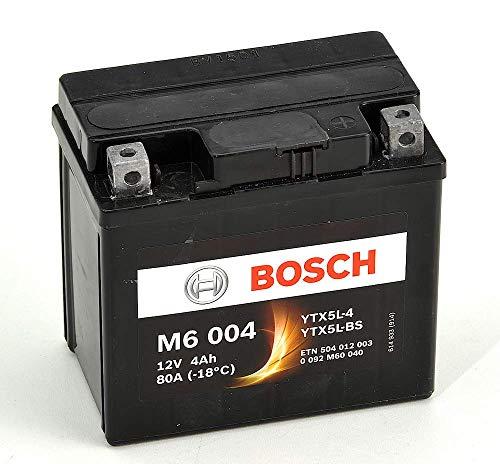 Bosch M6004 Batería motocicleta YTX5L-BS - 12V AGM 4A/h-30A