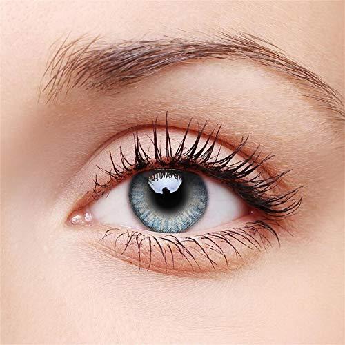 Natürliche Farbkontaktlinsen mit extrem hoher Abdeckung/Farbig getönte Kontaktlinsen aus Silikonhydrogel/1 Paar (2 Stück) Durchmesser: 14,5 mm/ohne Stärke 0.00 Dioptrien/Zentrum Dicke: 0,08 mm