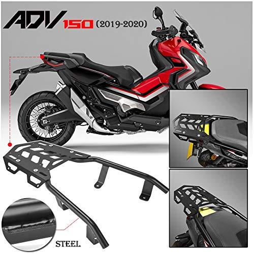 FATExpress ADV150 オートバイ黒 リアラゲッジカーゴラックエクステンデッドシェルフバー キャリアトップマウントブラケットプレートキット 適応 2019 2020 Honda ADV 150 バイク部品