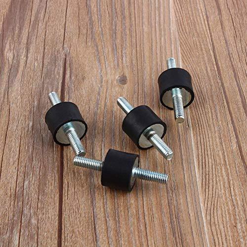 Silentblock, 4 piezas de Amortiguador Antivibracion de Goma (M6 20 * 15)