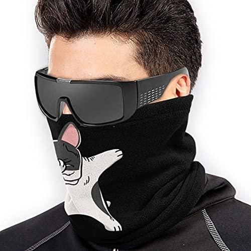 American French Bulldog Dog Dabbing Bandana Face Mask Warmer Neck for Dust Wind Sun Protection
