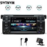 SWTNVIN Android 10.0 Autoradio stéréo pour BMW E46 Lecteur DVD Radio 7' HD Écran Tactile GPS Navigation avec Bluetooth WiFi Volant Commande 2 Go + 32 Go