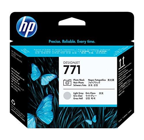 HP 771 DesignJet Druckkopf schwarz Photo/hellgrau – Druckköpfe (HP DesignJet Z6200, Z6600, Z6800, Tintenstrahldruck, Hellgrau, Foto Black, 70 g, 28 x 143 x 132 mm, 110 g)