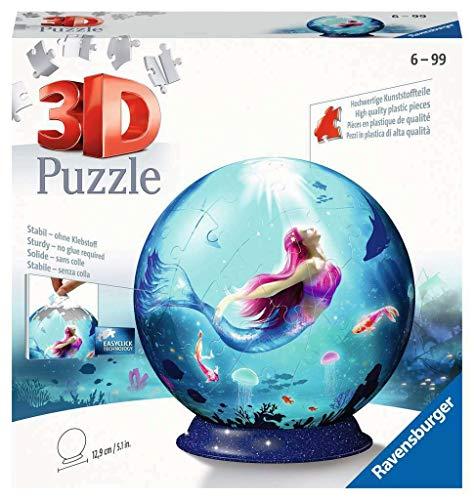 Ravensburger 3D Puzzle 11250 - Puzzle-Ball Bezaubernde Meerjungfrauen - 72 Teile - Puzzle-Ball für Erwachsene und Kinder ab 6 Jahren