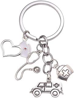 Noir Jaune Danger Ruban Porte-clés fun danger Design Porte-clés Cadeau #14616