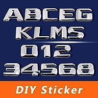 メルセデスベンツAMG W166 W218 W212 W202 W204 W178 W463 ML CLS R CLK SL、3DクロームDIYステッカートランクメタルデカール