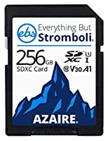 Everything But Stromboli 256GB SDカード クラス10 UHS-1 U3 スピード C10 V30 256G SDXCメモリカードストレージ 互換性のあるカメラ、コンピュータ、ビデオビデオビデオカメラ用 256GB 256GB_SD_EBS_AZAIRE