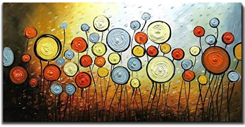 envío rápido en todo el mundo YAOUAPT Puro Pintado Pintado Pintado A Mano Pintura De Flores Bricolaje Lienzo Pintura Dormitorio Decoración del Hotel Pintura 40X80Cm  sin mínimo