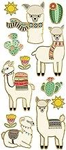 Paper House Productions Stickers Faux Enamel, Llamas (3 Pack), 3 Piece