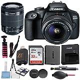Canon EOS 4000D / Rebel T100 DSLR Camera w/ 18-55MM DC III Zoom Lens with Accessory Bundle + SanDisk 32GB Memory Card + Hi-Speed USB Card Reader + Spider Tripod (17 pcs Bundle)