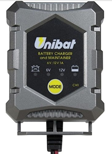 Carica Batterie UNIBAT CH1 Specifico per Scooter, Moto, Auto, Camper, Barch