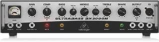 BEHRINGER BX2000H 2,000-Watt Class-D Bass Amplifier with Mosfet Preamp Compressor and Dynamizer Technology Black