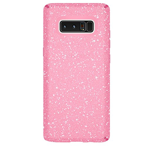 Speck Products Presidio Clear + Glitter Cell Phone Case for  Samsung Galaxy Note8 - Bella Pink With Gold Glitter/Bella Pink Presidio Clear + Glitter