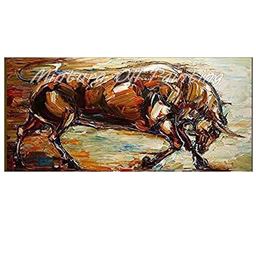 100% met de hand geschilderd olieverfschilderij kunstwerk op canvas, abstract dier, grote kunst moderne pop Angry grote oas grappig, kinderkamer koffiehuis moderne kunst voor woonkamer slaapkamer woonaccessoires 70×105cm(28×42 inch)