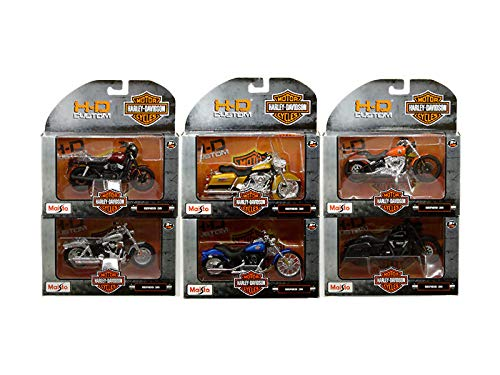 DIECAST 1:18 H-D Customs - Harley-Davidson Motorcycles Series 36 Assortment Set of 6 31360-36 by MAISTO