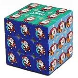 Geschwindigkeits-Würfel, Spielzeug Geometrie Magic Cube 3x3x3 Weihnachtsmuster Blinde Fingerabdruck-Speed Puzzle Cube 3D Relief Lernspielzeug für Kinder