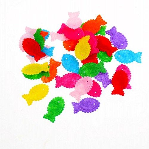 Fish Felt Fabric Appliques Pads Scrapbooking Craft DIY Making Decorations School Supplies