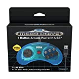 Retrobit - Manette Officielle SEGA Mega Drive Mini 6-boutons USB - Bleue
