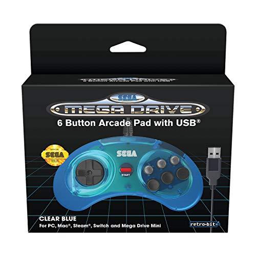 Retro-Bit Sega MD Mini 6-B USB BLU - Not Machine Specific Mac OS X, Nintendo Switch, Windows 7, PlayStation 3