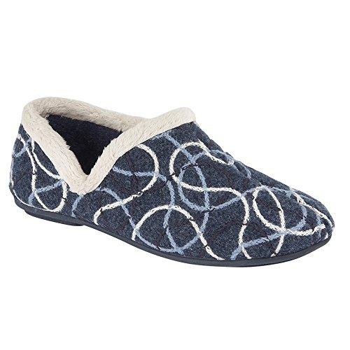 Sleepers - Zapatillas de Estar por casa Modelo Karen para Mujer (40 EU) (Azul)