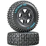 Lockup SC Tire C2 Mounted Black SC10 Rear (2)