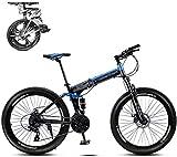 WJ Faltbare Mountain Bike 26 Zoll, 8 Sekunden Schnelles Folding MTB Fahrrad, 21 Geschwindigkeitsstahlrahmen Doppelscheibenbremse Adult Rennrad Für Off-Road Cycling-Reisen,C,26Inch