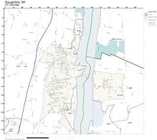 ZIP Code Wall Map of Saugerties, NY ZIP Code Map Laminated