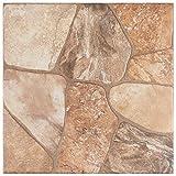 SomerTile, Beige FAZ18LYB Leon Ceramic Floor and Wall Tile, 17.75' x 17.75'