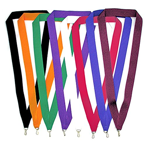 PinMart Solid Color Neck Ribbons Award Holder - Select Your Color and Qty