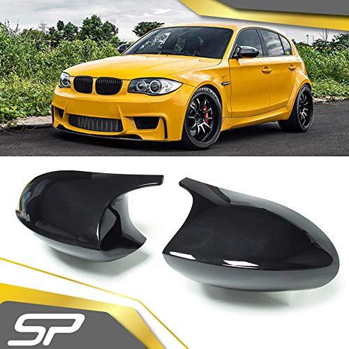 SpeedyParts® 1 Paar Spiegelkappen Gehäuse für BMW 3er E90 E91 E92 E93 vor Facelift (Schwarz)
