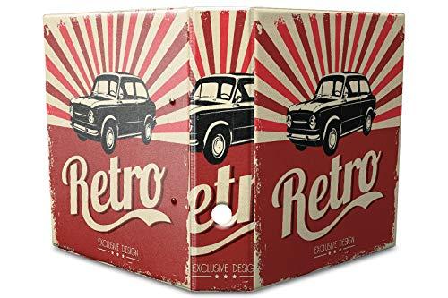 Motiv Akten Ordner Bedruckt 60mm DIN A4 Retro altes Auto