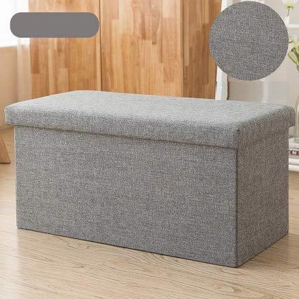 Haus Dekoration Rechteckiger Baumwoll-Stuhlhocker-Hocker kann SIT SIT SIT AUTZ-Sofa-Hocker-Schuhbank Home Aufbewahrungsbox Multifunktionsfunktion (Color : 4)