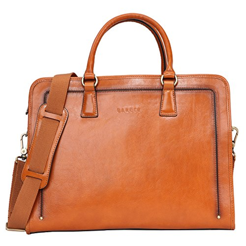 Banuce Full Grains Italian Leather Briefcase for Women Handbags 14 Laptop Tote Business Bag Attache Case Ladies Messenger Satchel Purse