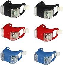 ExH Fietsachterlicht, 3 paar siliconen fietslichten, waterdicht, helder fietslicht, waarschuwingslicht, veiligheidswaarsch...