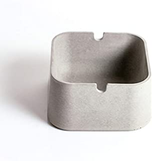 GAOTING Ashtray/ashtray cement (Color : Grizzly grizzly square)