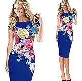 SLYZ Mujeres Europeas Y Americanas Moda Femenina Vestido De Verano Estampado...