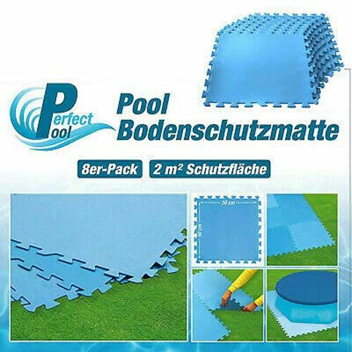 Posten Anker Bodenplatten für Pools | in der Farbe BLAU | 50cm x 50 cm Größe | einfach zusammensteckbar | auch für Sport und spielende Kinder geeignet | angenehm weich