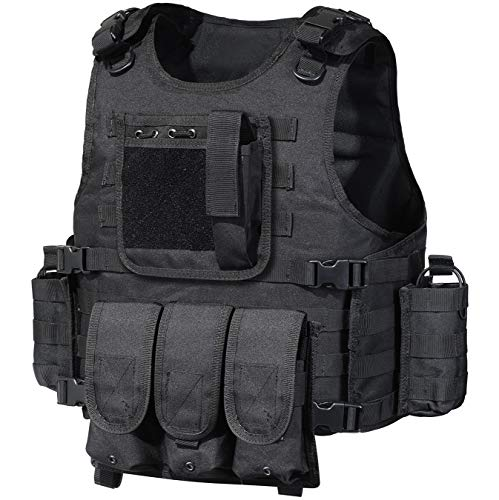 GZ XINXING Tactical Airsoft Paintball Vest (Black)