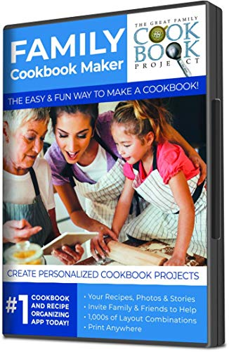 Cookbook Making Kit Including 5 Printed Cookbooks Filled with Your Favorite Recipes - Preserves Family Recipes for Future Generations - Quick, Convenient and Easy to Use