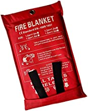 Victosoaring Emergency Survival Fiberglass Fire Blanket Shelter Safety Cover Ideal for The Kitchen, Fireplace, Grill, car, Camping (39x39 in)