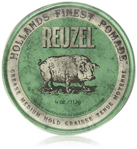 REUZEL Pomade Green Grease Medium Hold, 1er Pack (1 x 113 g)