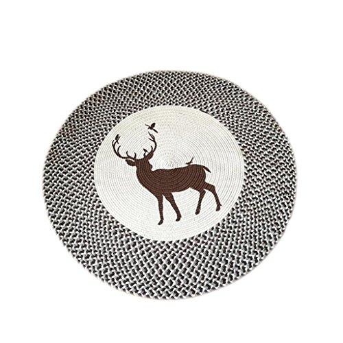 KTYXGKL Alfombra redonda creativa hecha a mano para dormitorio, sala de estar, mesa de café, silla de ordenador, balcón, alfombra (tamaño: 120 cm)