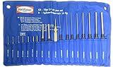 18-tlg. Extra Lange Splintentreibersatz Splintentreiber-Satz Durch-Schläger-Treiber Körner Splinttreiber