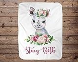 Rhino Personalized Baby Blanket