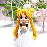 YSpring POP Anime Sailor Moon Decorative Ornaments Elegant Tsukino Usagi Princess Collectible Vinyl Action Figure Sculpture(Style A)