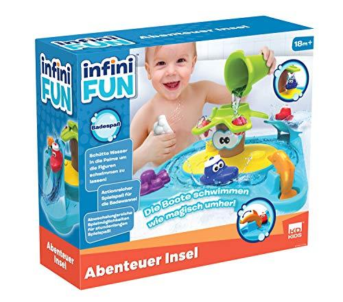 Infini Fun DES17150 Badespaß Abenteuerinsel, Badewannenspielzeug für Kleinkinder, farbenfroh gestaltet, Verschiedene Elemente für Langen Spielspaß