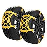 SUPTEMPO Snow Chains, 6 Set Emergency Anti Slip Tire Chains with Upgrade TPU Car Snow Chain for...