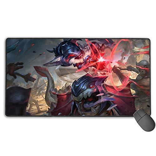 Alfombrilla de ratón para juegos extendida para League Legends Marauder kled, tamaño extendido profesional, borde cosido, diseño personalizado de 40 cm x 75 cm