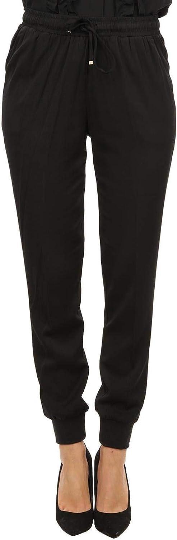 LIU JO Women's C68218T525622222 Black Cotton Pants